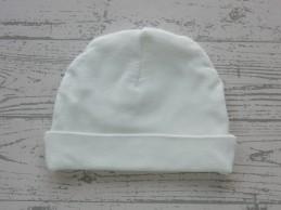 Babymutsje wit 1 maat