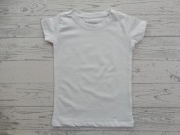 Kinder T-shirt basic wit...