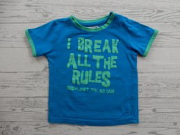 T-shirt blauw groen I break...