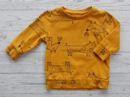 Hema baby shirt oker geel...