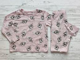 H&M pyjama lichtroze bruin...