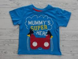 T-shirt blauw rood mummy's...
