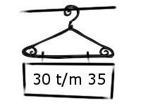 Jongens maat 30 t/m 35