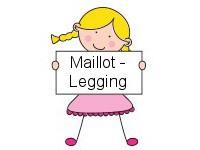 Meisjes Maillot - Legging
