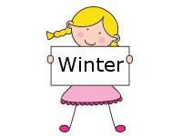 Meisje Winter